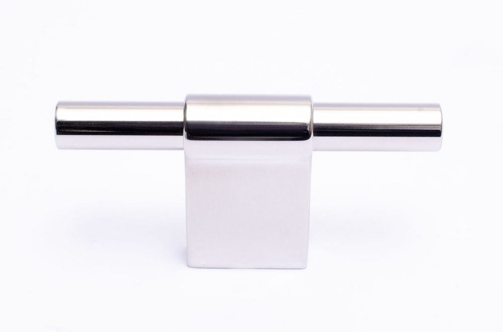 Line Polished Stainless Steel Cabinet Knobs and Drawer Pulls - Brass Cabinet Hardware