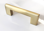 Luxe Brass Drawer Pulls in Satin Brass - Brass Cabinet Hardware