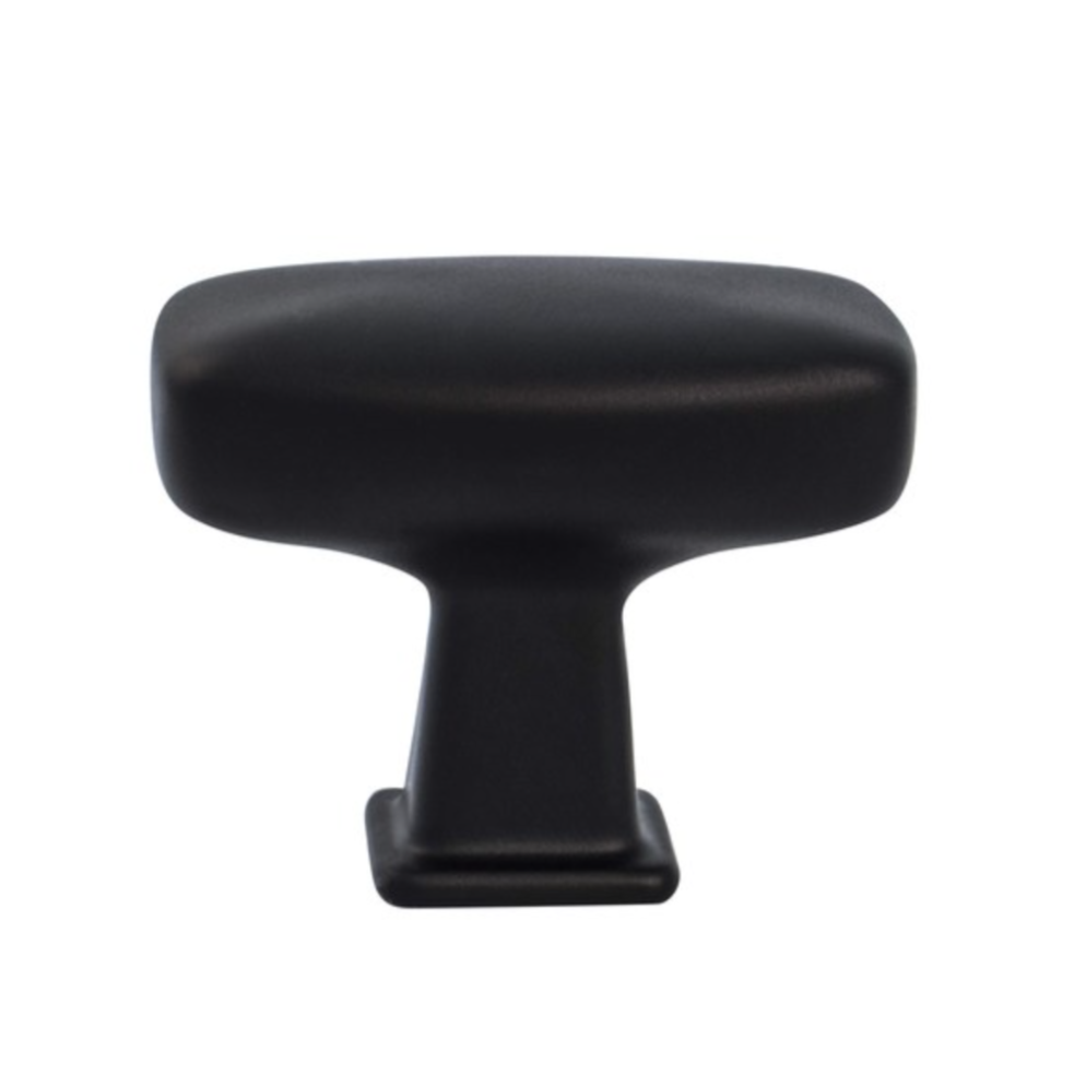 Kelly Tall Matte Black Cabinet Knob - Kitchen Drawer Knob - Brass Cabinet Hardware