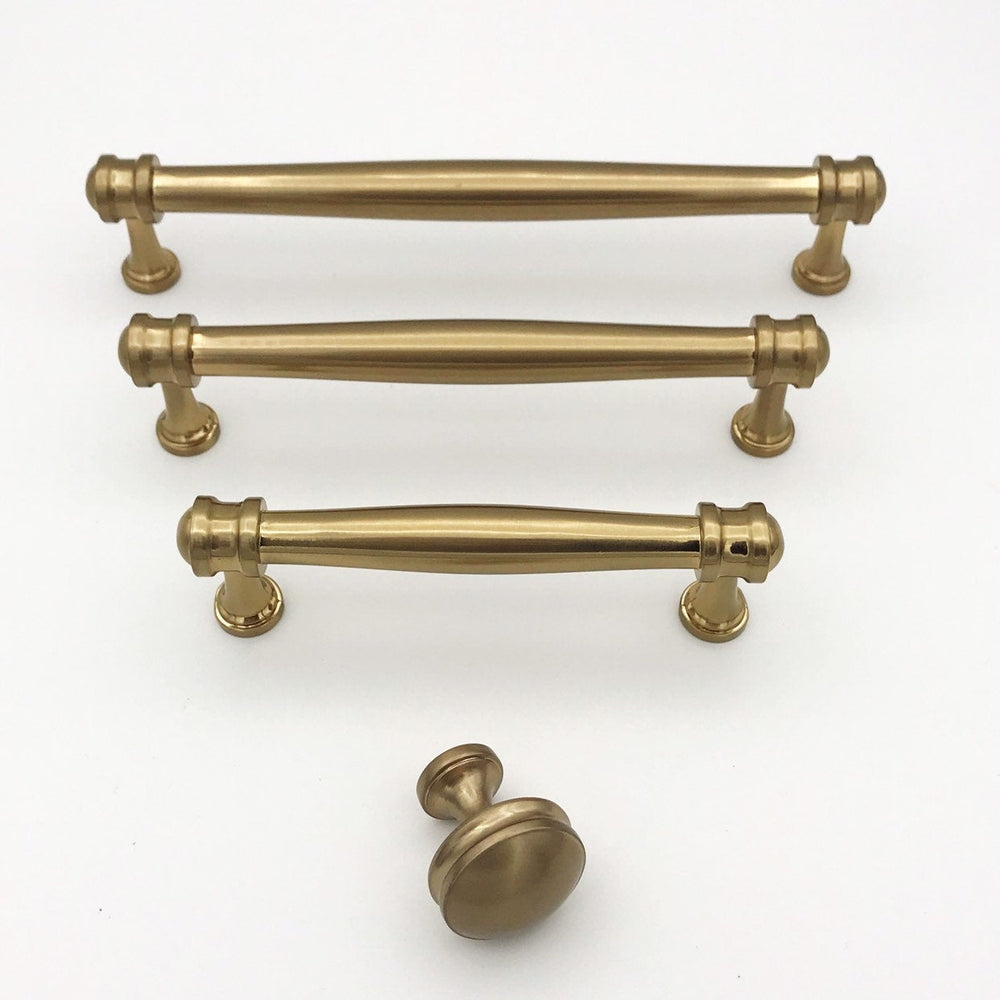 "Champagne Bronze ""Mist"" Drawer Pulls and Knob"