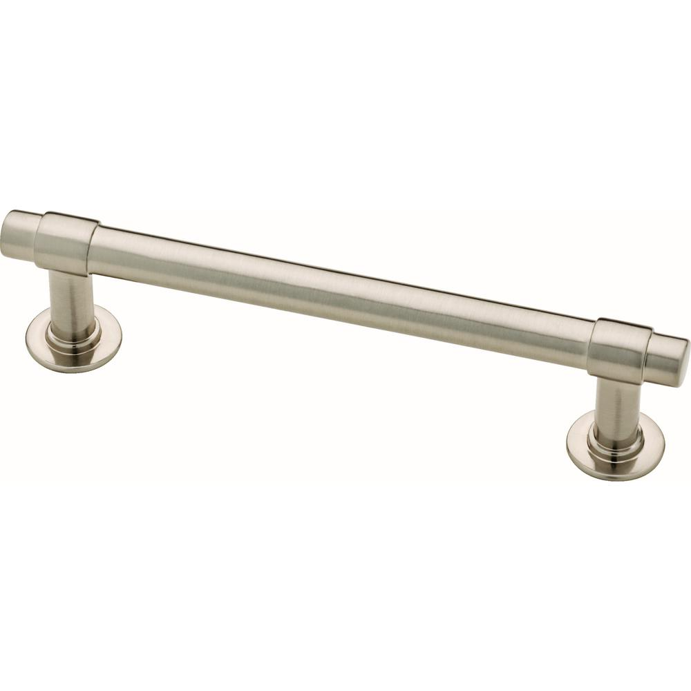 "Satin Nickel ""Farmhouse"" Knob and Drawer Pulls - Brass Cabinet Hardware"