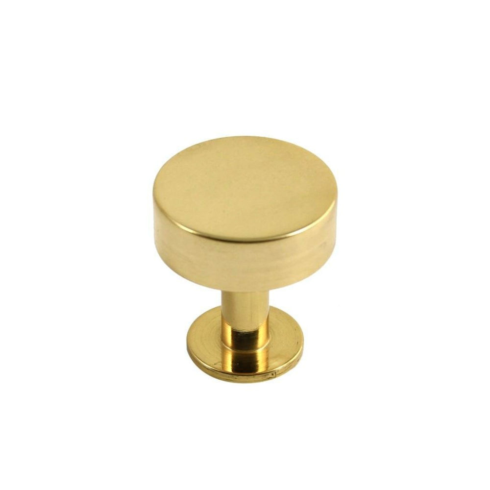 Lew's Hardware Polished Brass Cabinet Knob 41-001 Disc Brass Knob