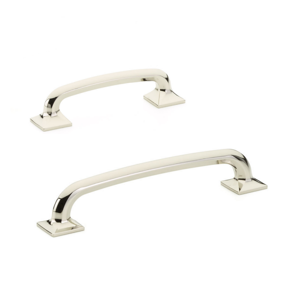Milli Square Polished Nickel Drawer Pulls - Brass Cabinet Hardware