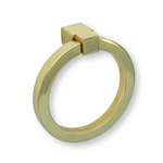 Zimi Round Ring Pull in Polished Brass