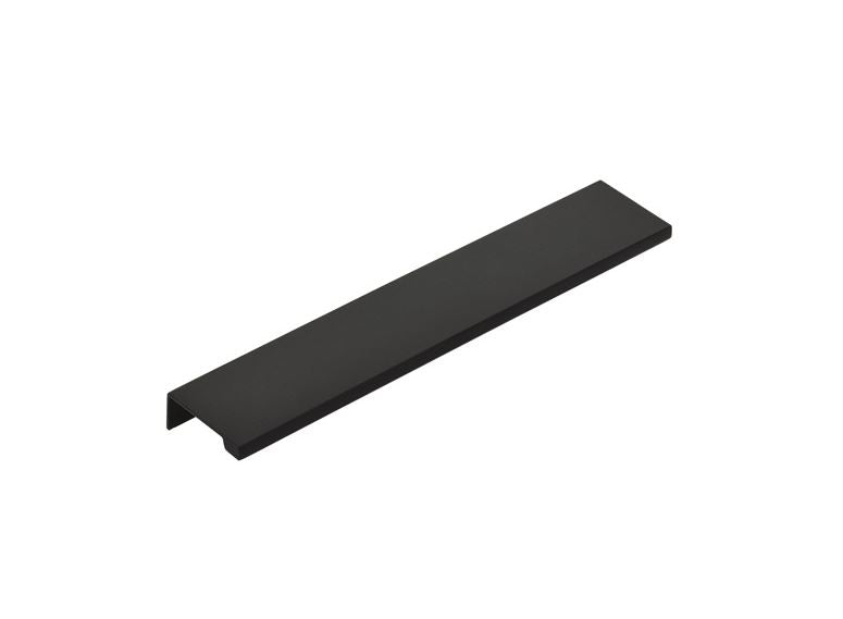"Matte Black ""Dina"" Tab Finger Drawer Pulls - Brass Cabinet Hardware"