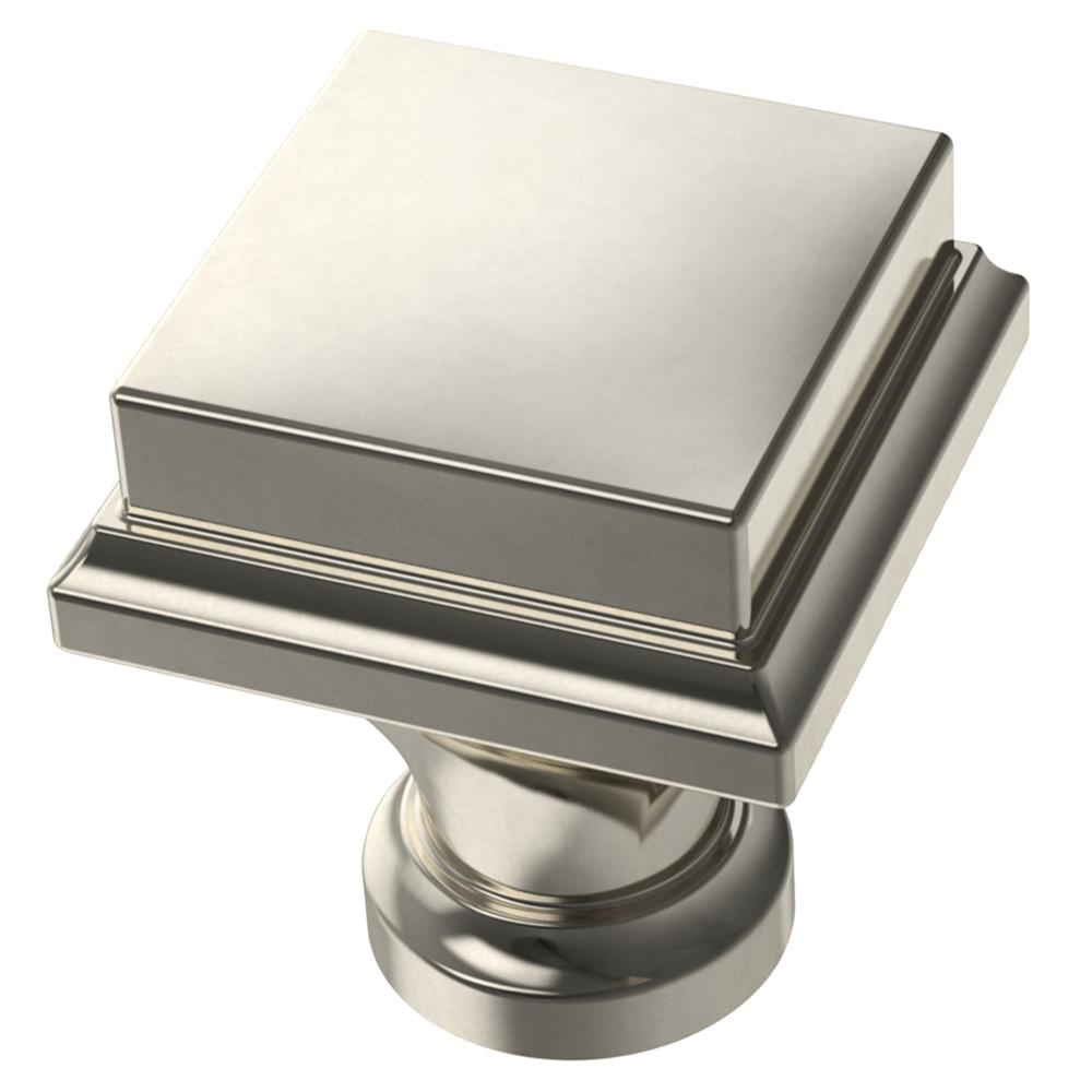 Thea Polished Nickel Drawer Pulls and Knob - Brass Cabinet Hardware
