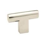 Luxe Polished Nickel T-Knob Cabinet Knob - Brass Cabinet Hardware