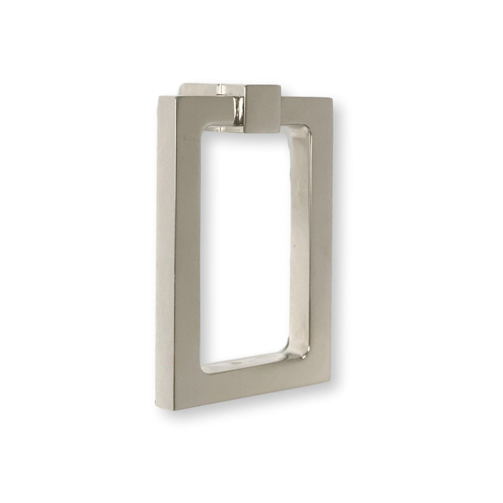 Zimi Rectangular Ring Pull in Polished Nickel