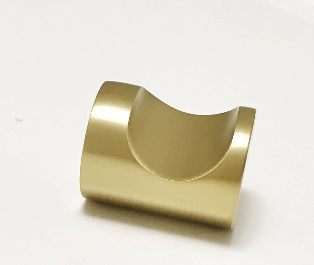 Luxe Brass Whistle Cabinet Knob in Satin Brass - Cabinet Hardware - Brass Cabinet Hardware