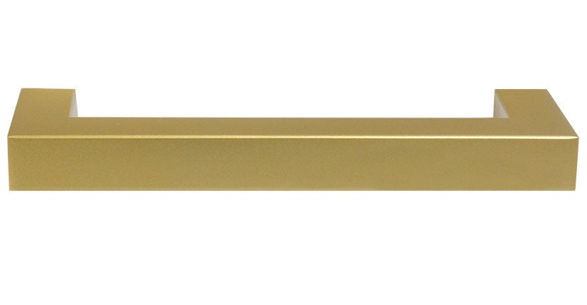 "Satin Brass ""Corner"" Drawer Pull - 5"" Drawer Pull - Cabinet Handle - Brass Cabinet Hardware"
