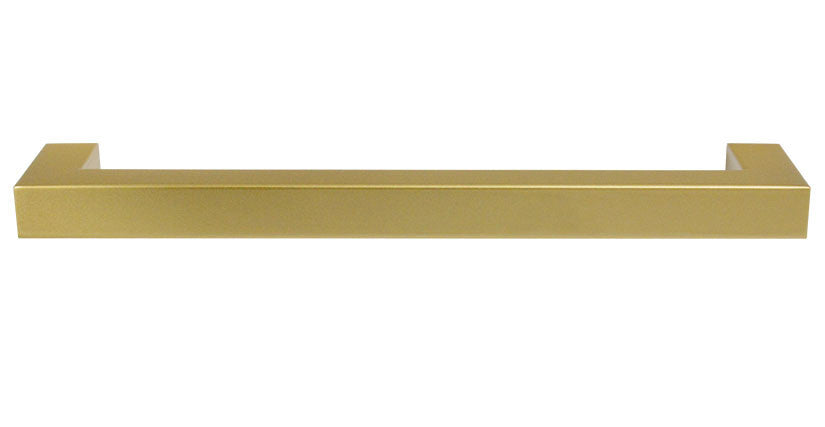 "Satin Brass ""Corner"" Drawer Pull - 15-1/8"" Drawer Pull - Cabinet Handle - Brass Cabinet Hardware"
