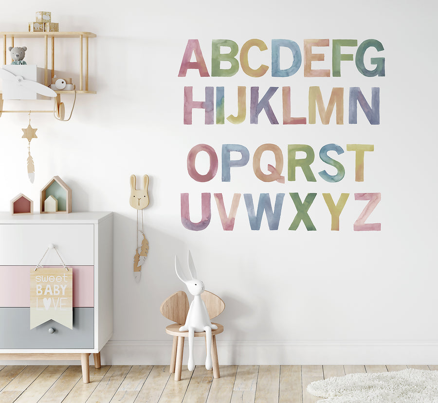 Watercolour Alphabet Set