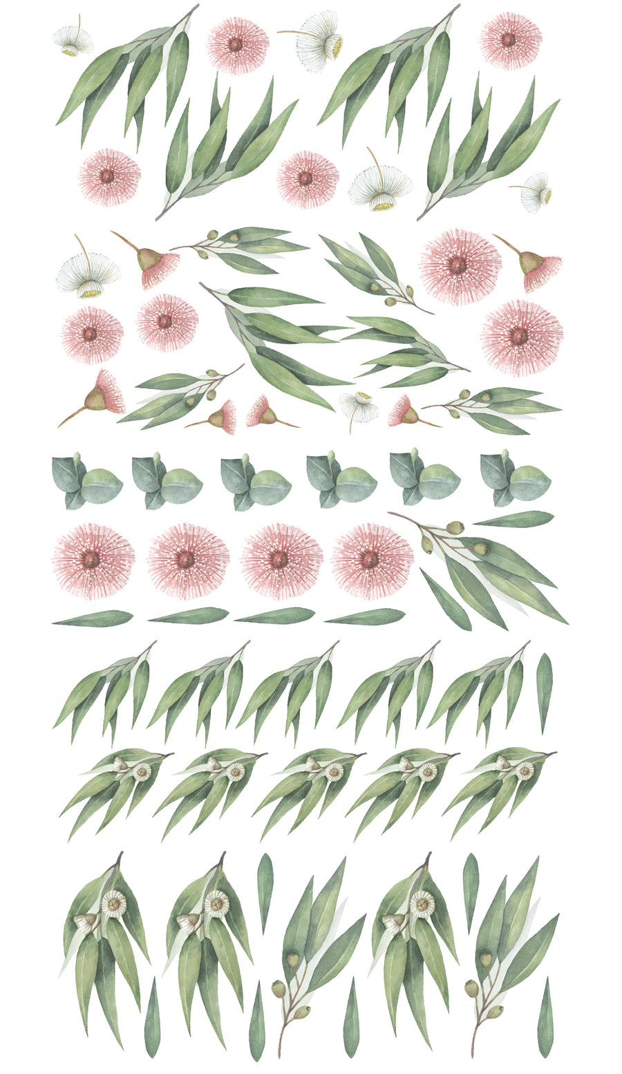 Australian Gum Tree & Blossom Decal Set