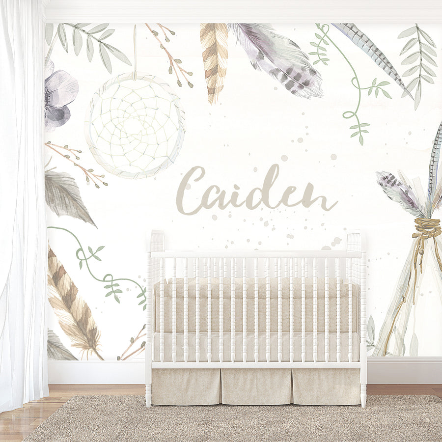 Boys Boho Wallpaper - Ginger Monkey