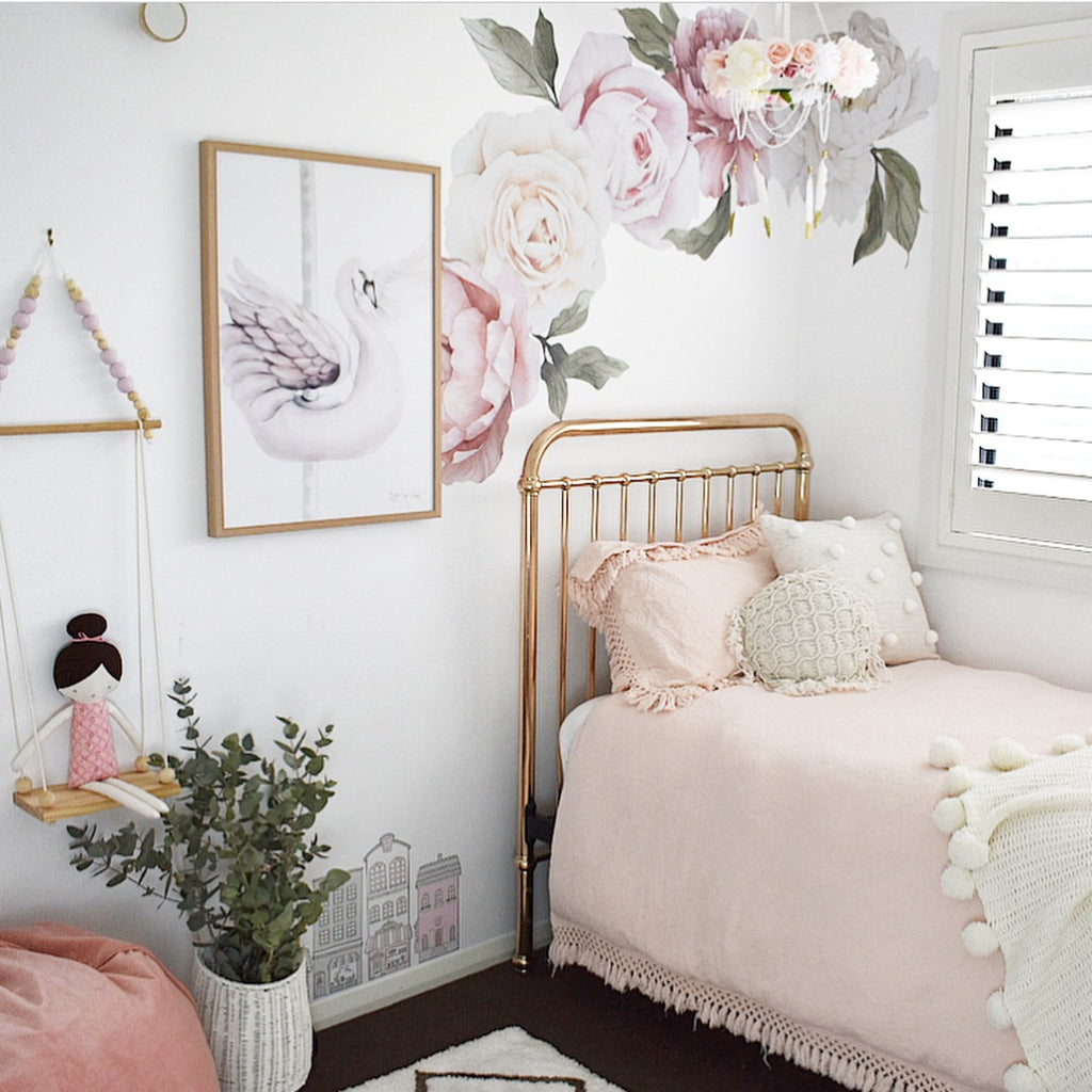 Peony & Rose Individual Wall Decals