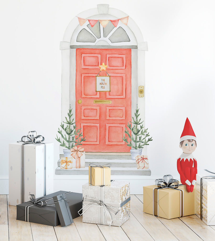 Elf Door Wall Decal