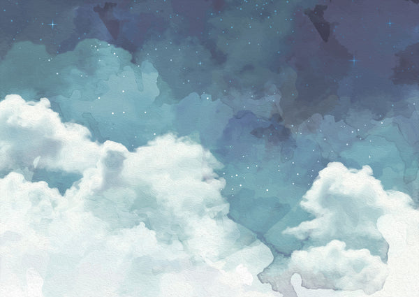 Cloudy Night Sky Wallpaper - Ginger Monkey