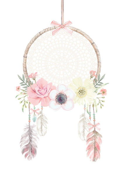 Large Boho Dreamcatcher Wall Decal - Ginger Monkey