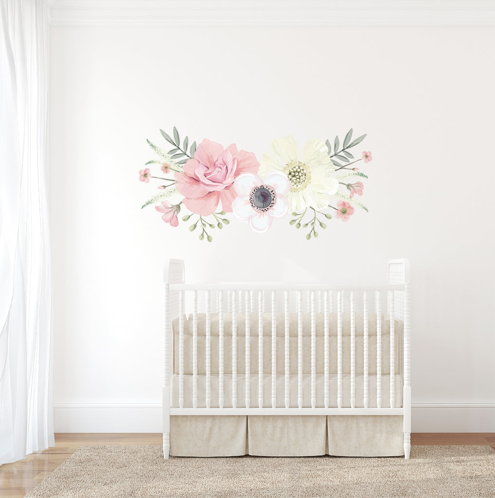 Boho Floral Wall Decal   Ginger Monkey