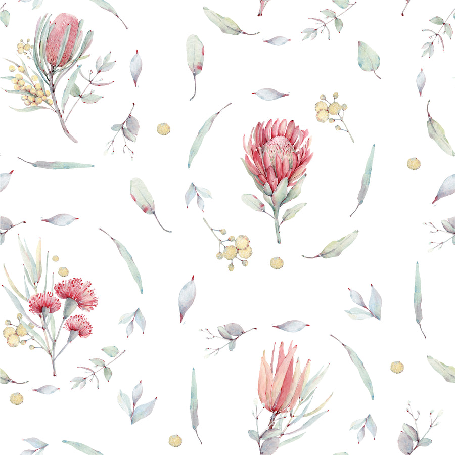 Australian Flora Wallpaper Range - Protea Flower Wreath