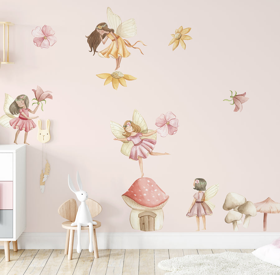 Flower Fairy Decal Set