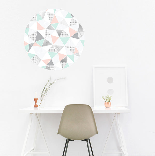 Geometric Pastel & Marble Wall Decal - Ginger Monkey