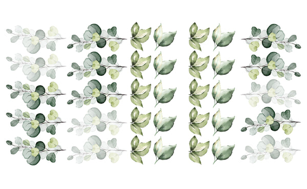 Green Foliage Wall Decal Set