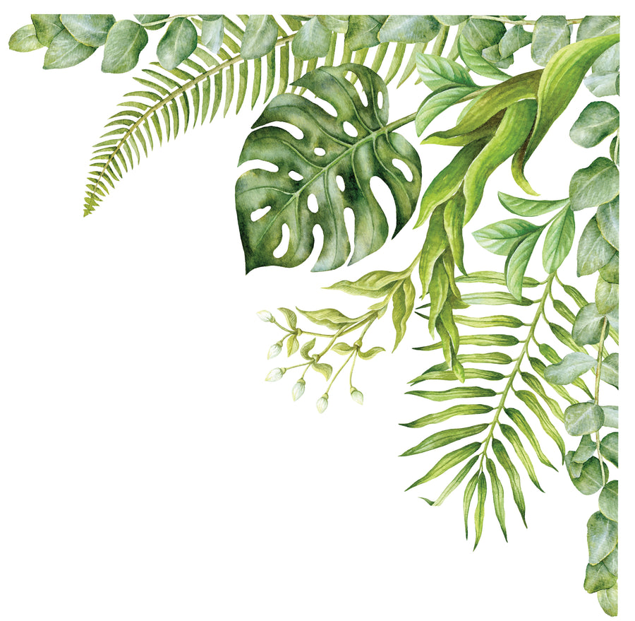 Greenery Garden Corner Wall Decal - Ginger Monkey