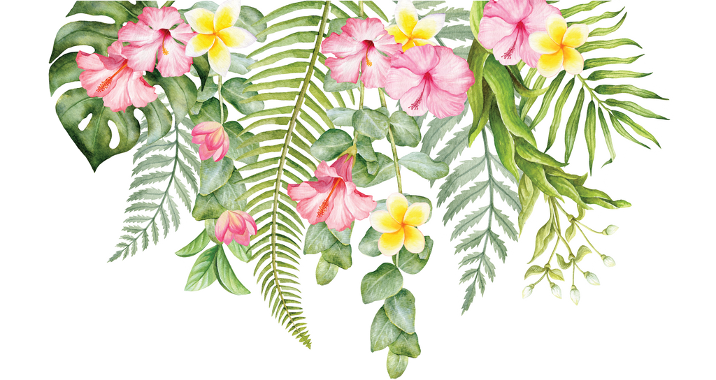 Individual Tropical Flowers For Greenery Wall Decal