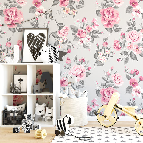 Vintage Rose Wallpaper - Ginger Monkey