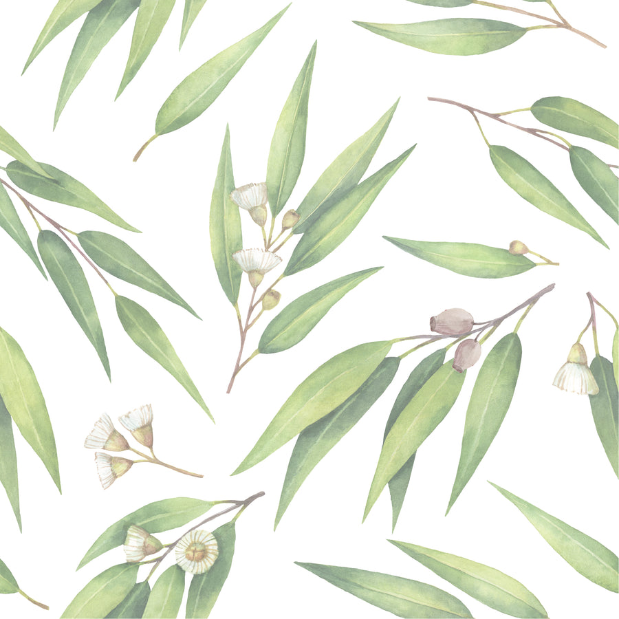 Australian Flora Wallpaper Range - Gum Leaf Design