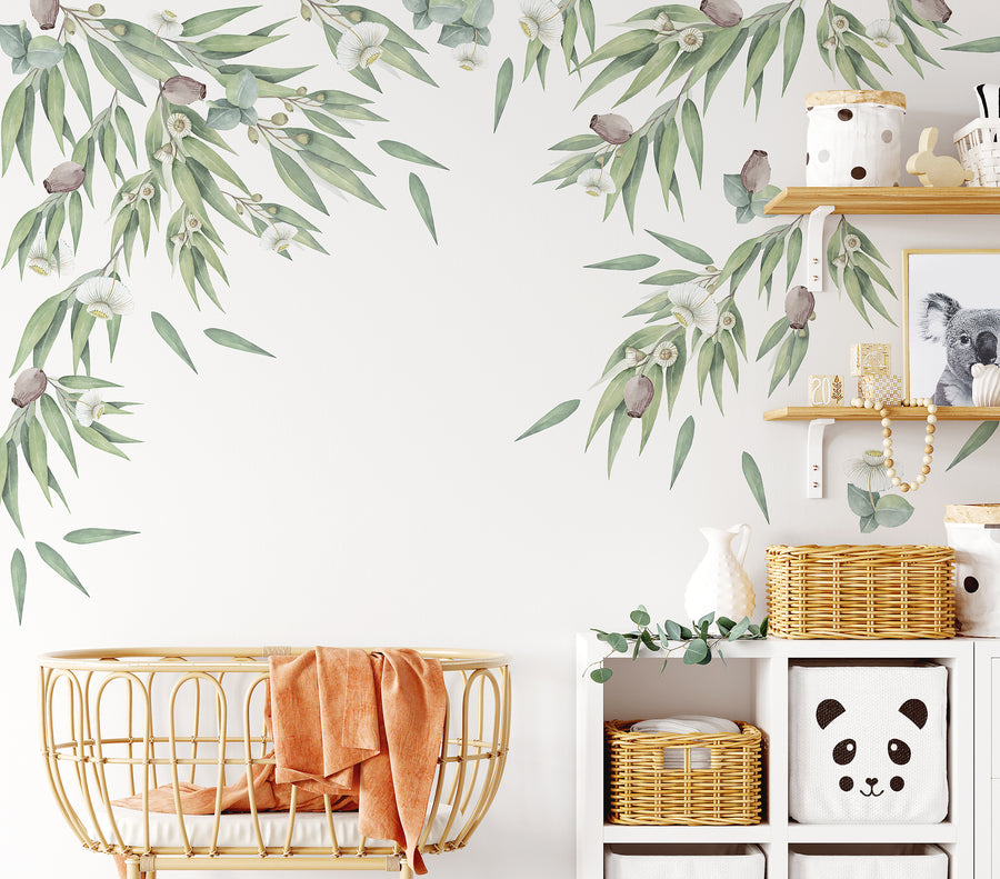 Australian Gum Tree & Gumnut Decal Set
