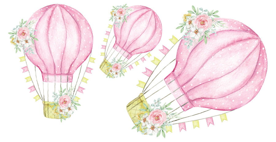 Floral Hot Air Balloon Set