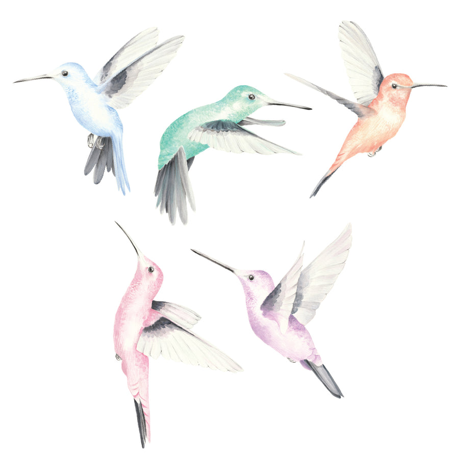 Watercolour Hummingbirds