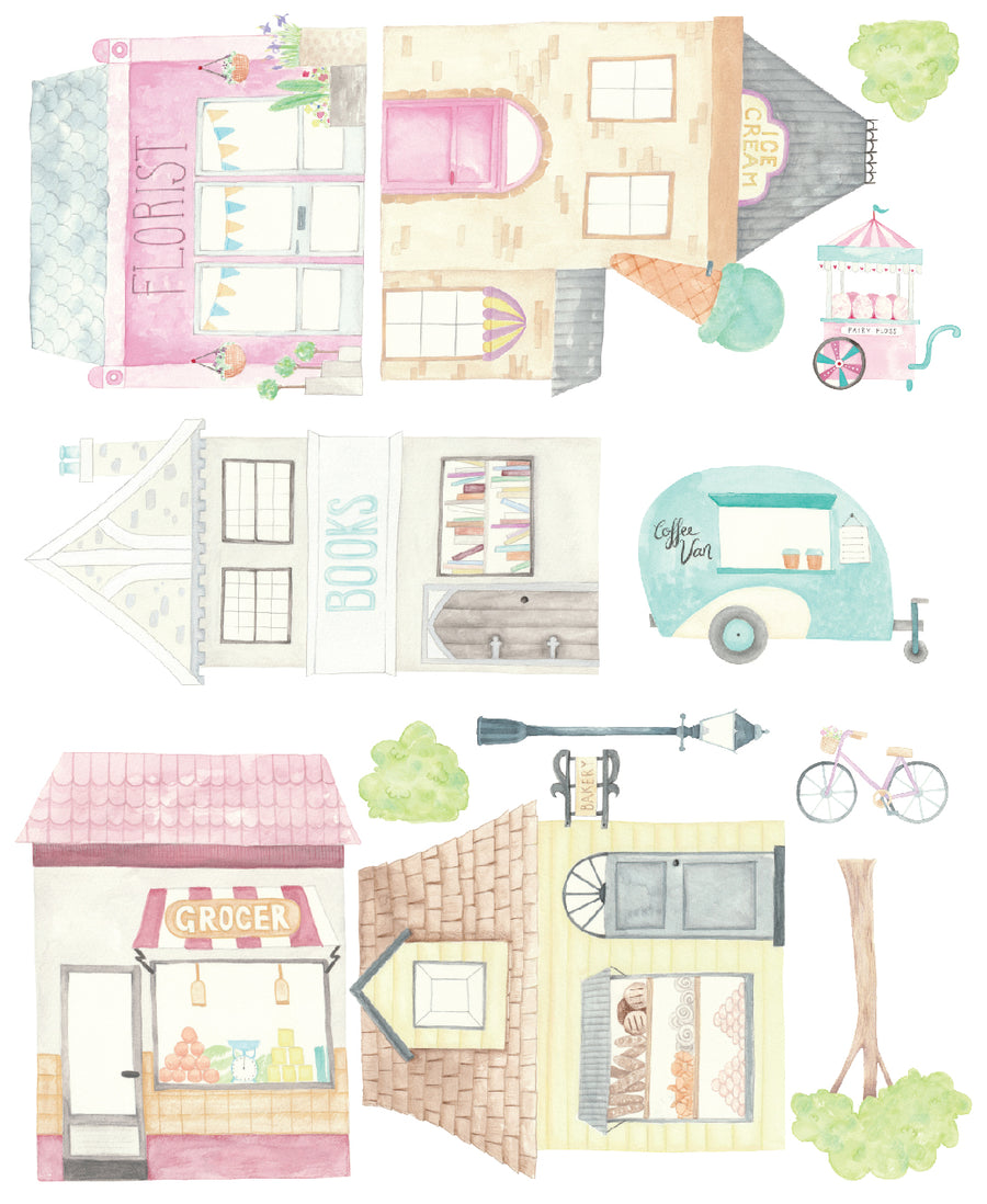 EXCLUSIVE RANGE - Little Town Decal Set