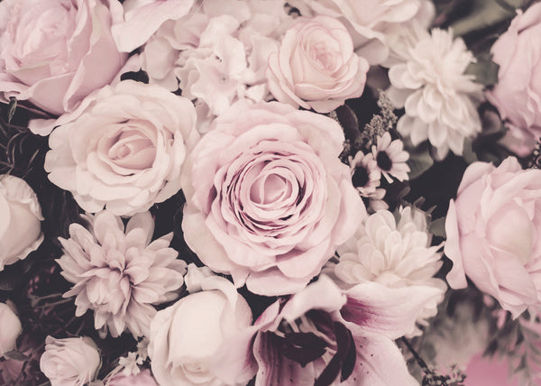Muted Pink Floral Wallpaper