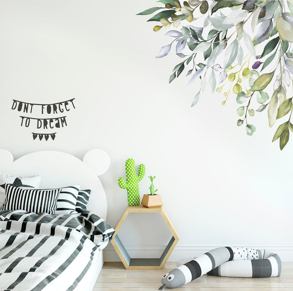 Native Garden Corner Wall Decal