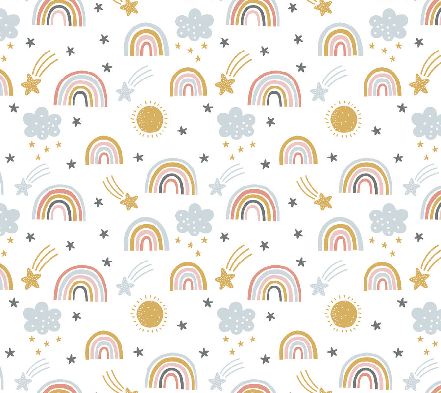 White Rainbow Wallpaper
