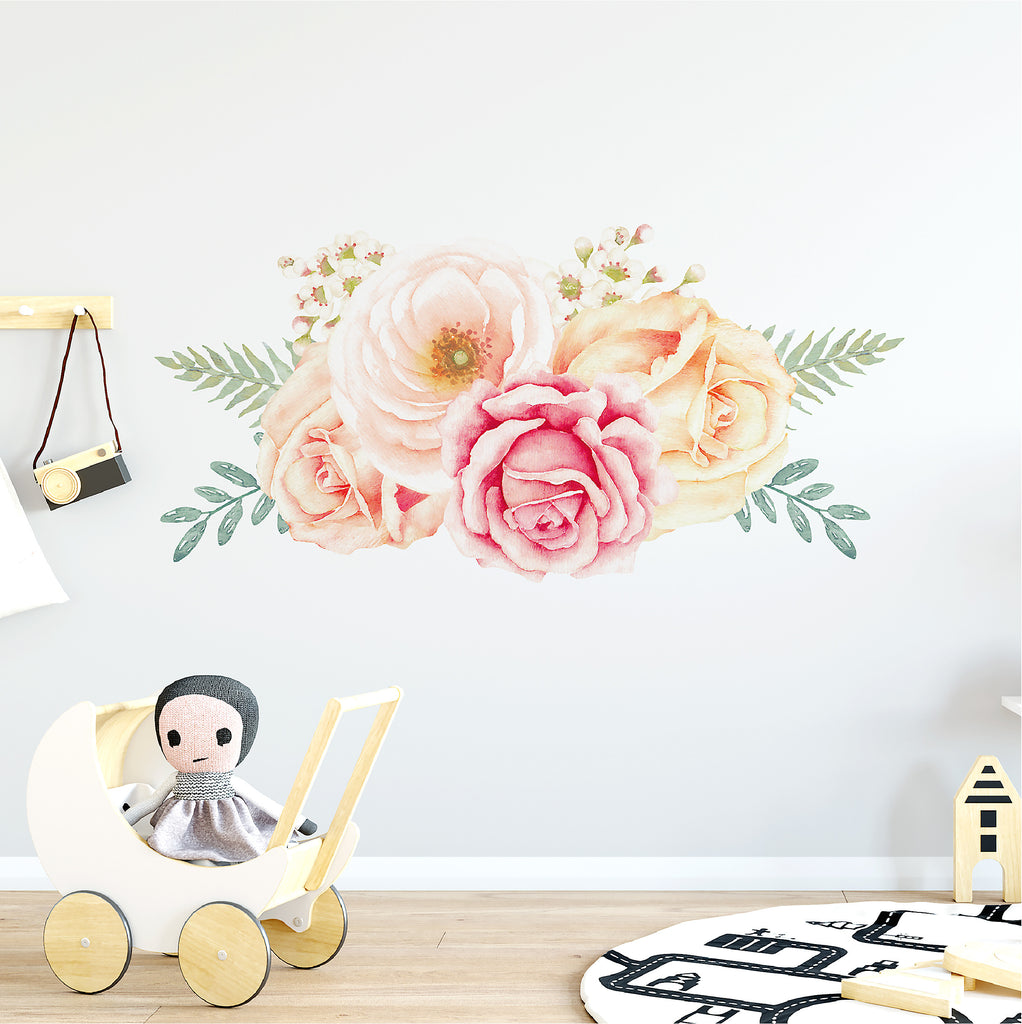 Rose Garden Floral Wall Decal - Ginger Monkey