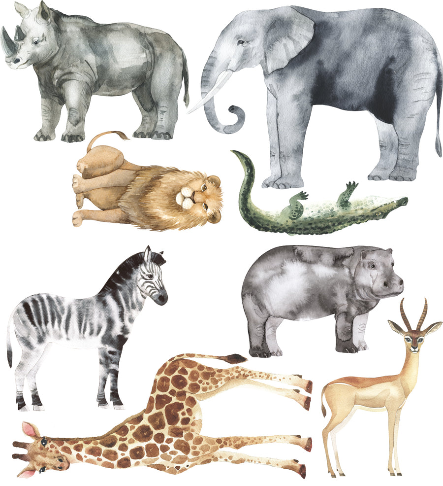 Safari Animal Decal Set