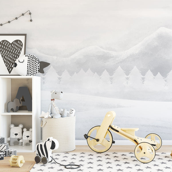 Snowy Mountains Wallpaper - Ginger Monkey