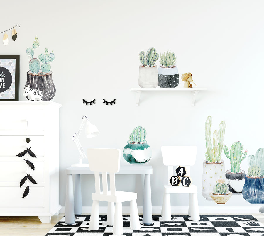 Succulent & Cactus Individual Wall Decals