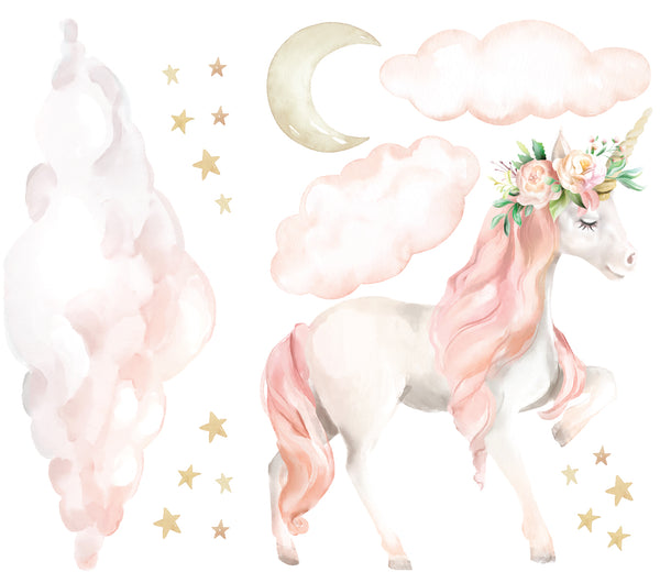Dreaming Unicorn Wall Decal Set