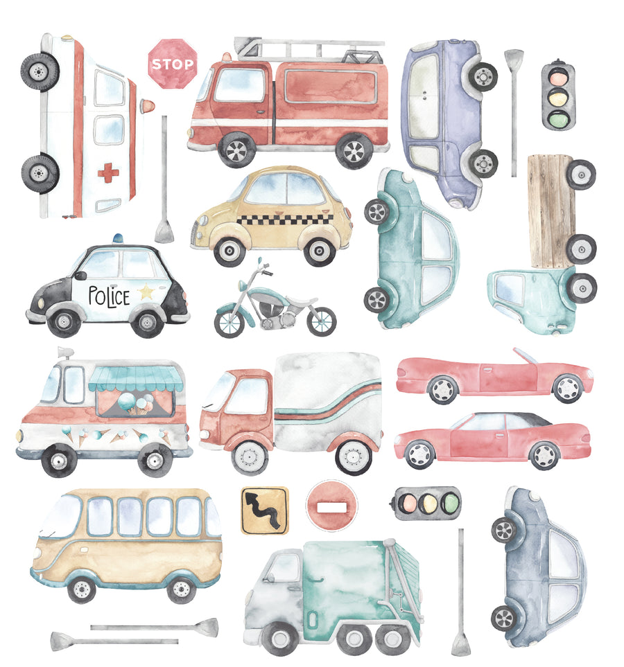 Cars & Trucks Decal Set
