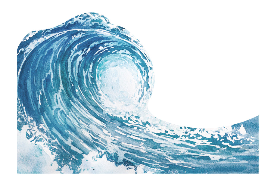 Blue Wave Wall Mural