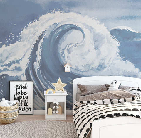 Ocean Wave Wallpaper - Ginger Monkey