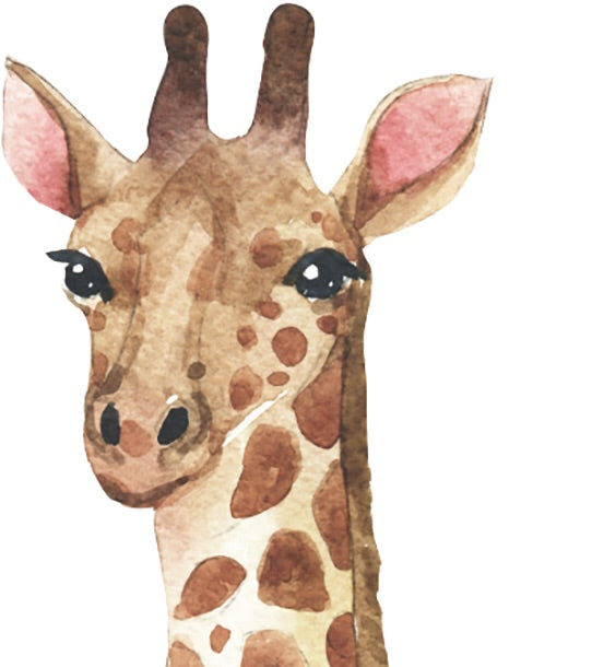 Watercolour Giraffe Wall Decal