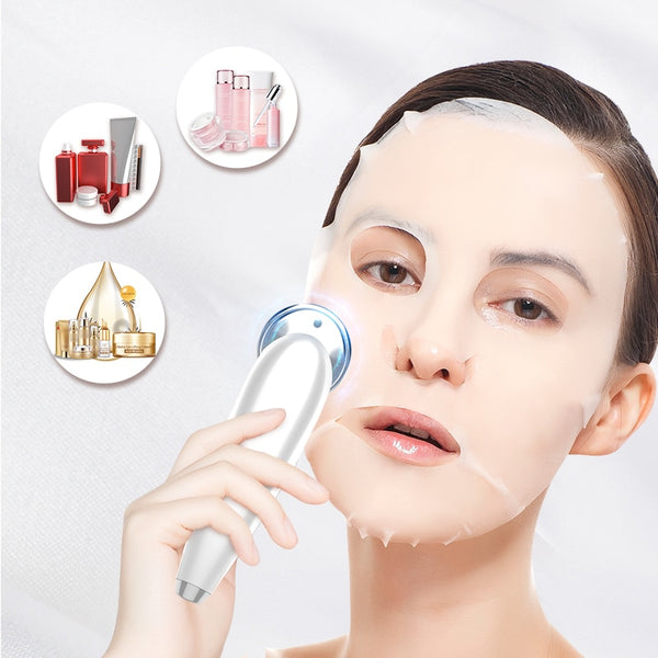 7in1 Radio Mesotherapy Electroporation lifting Beauty LED Photon Face Skin Rejuvenation Remover Wrinkle Radio Frequency