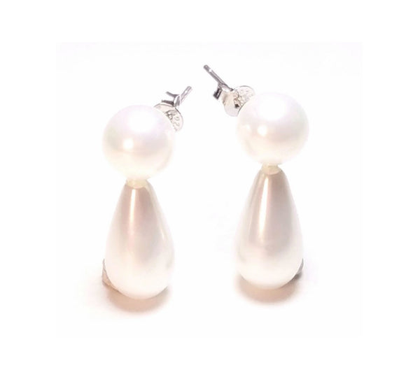 mermaid-wedding-pearl-tear-drop-earrings-white-sterling-silver-cosplay-jewelry