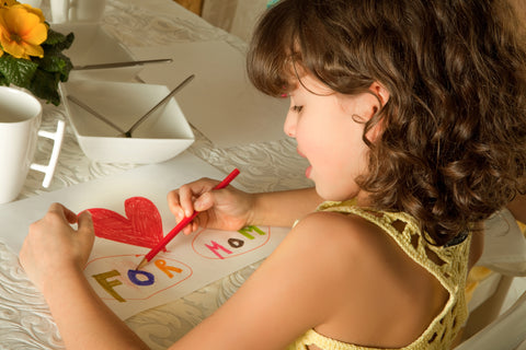 Girl Making A Card By Hand